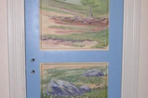 dörr med fjälltema  akryl
